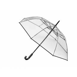 Transparent umbrella , aluminium / polyethylene